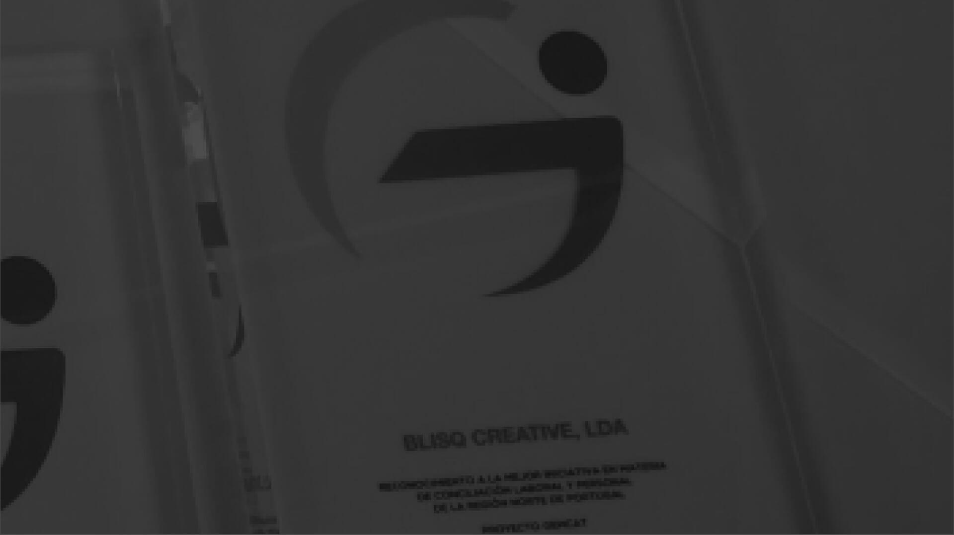 Close-up prémio de melhor empresa do Norte de Portugal - Blisq Creative