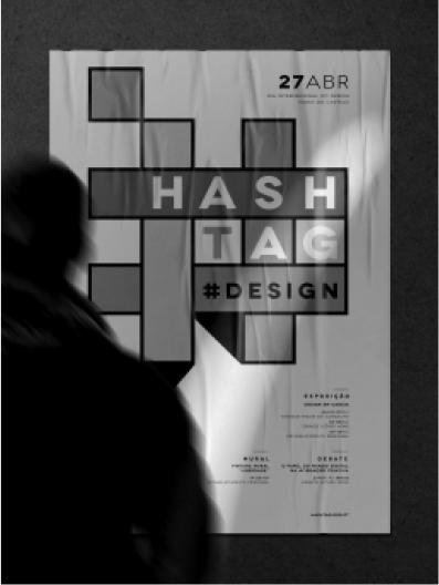 Cartaz do evento Hashtag design organizado por Blisq Creative