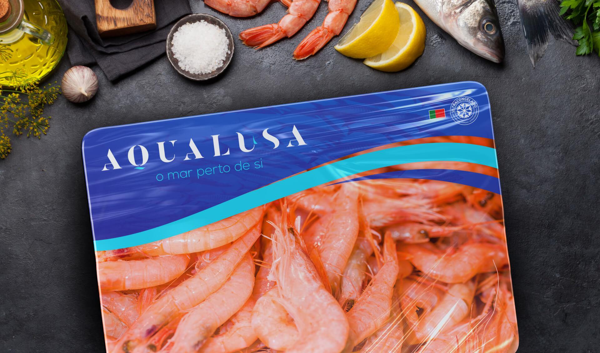 Embalagem de camarão da Aqualusa