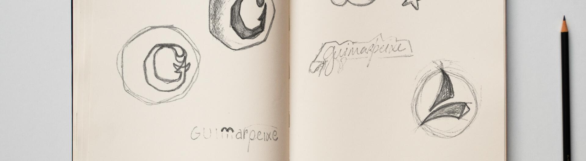 Estudo de logotipo Guimarpeixe