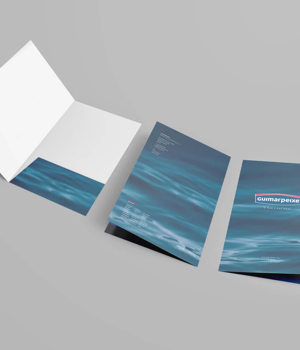 Capa de documentos Guimarpeixe aberta