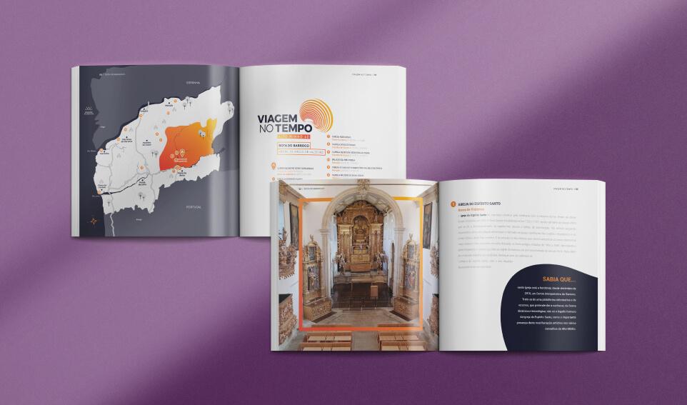 Páginas catálogo Viagem no Tempo