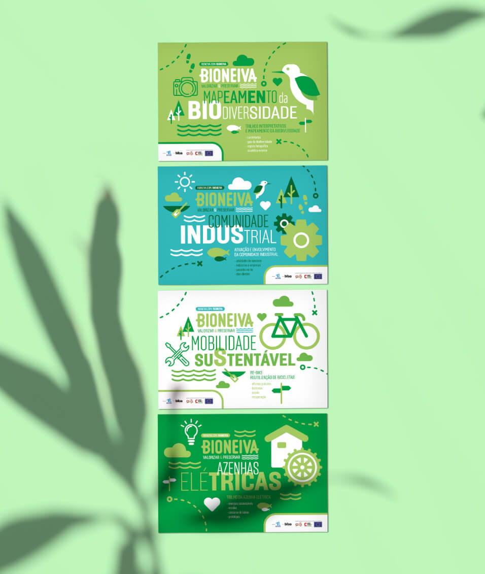 Quatro brochuras da Bioneiva