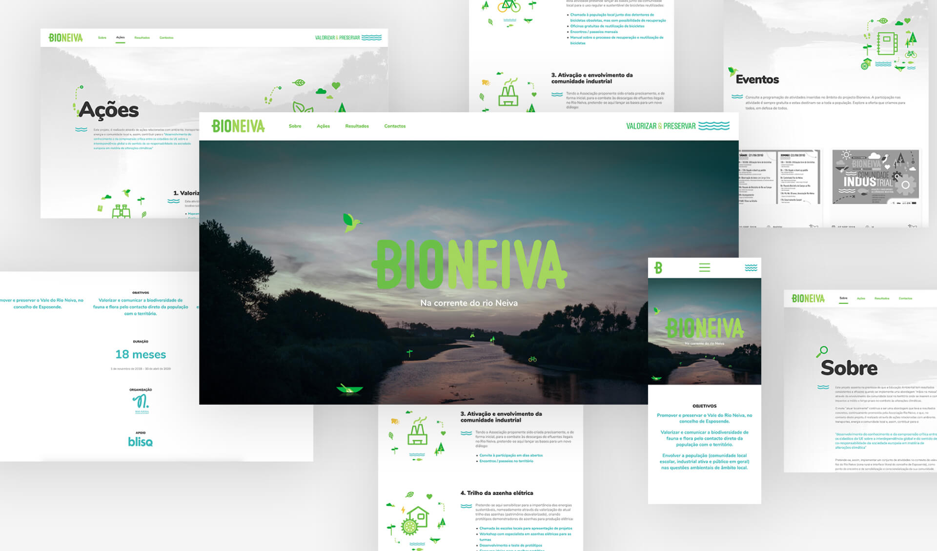 Mockup website Bioneiva