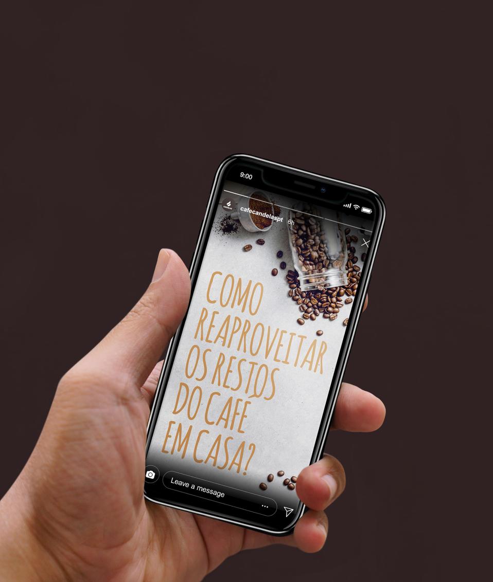 instagram story smartphone coffee