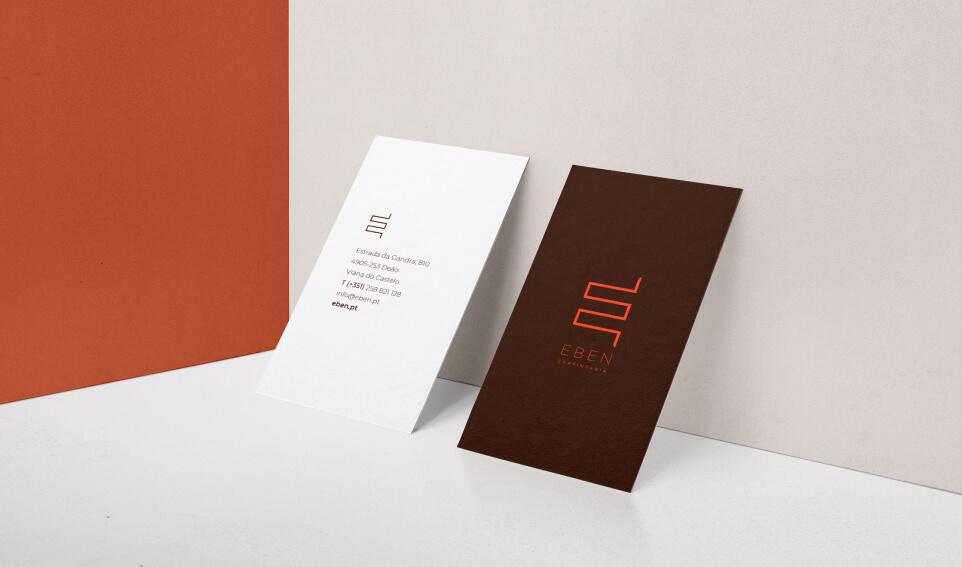 Cartões de visita EBEN