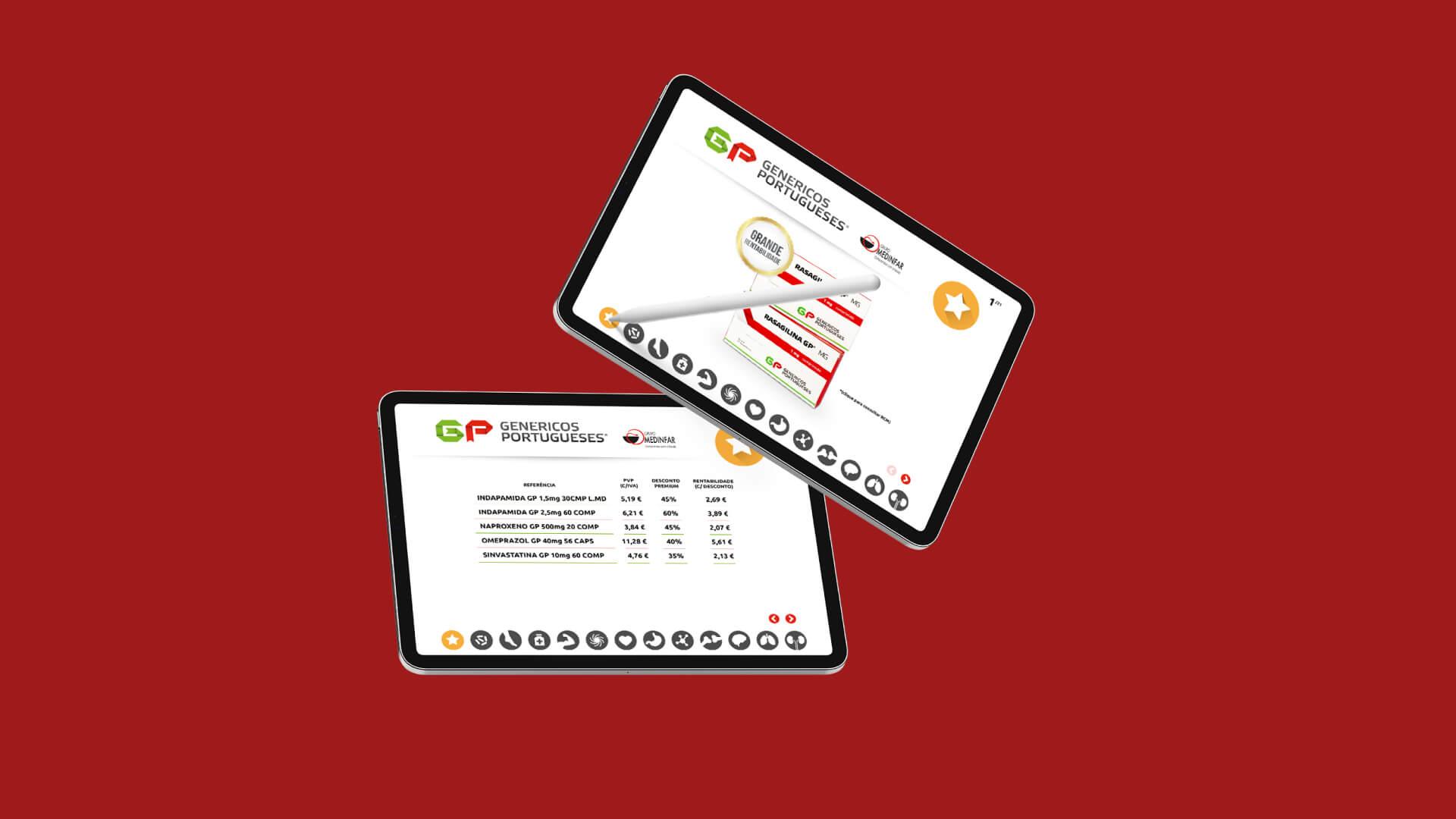Mockup Genéricos Portugueses em Tablet