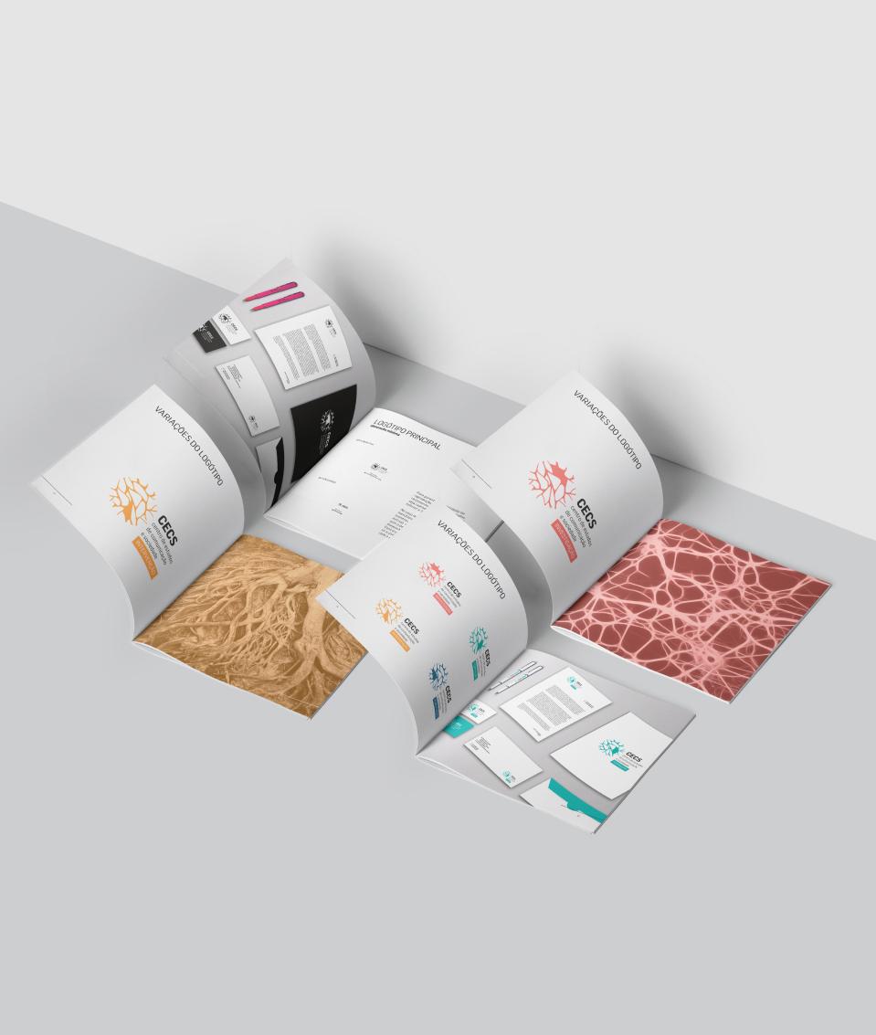 4 brochuras sobre o chão