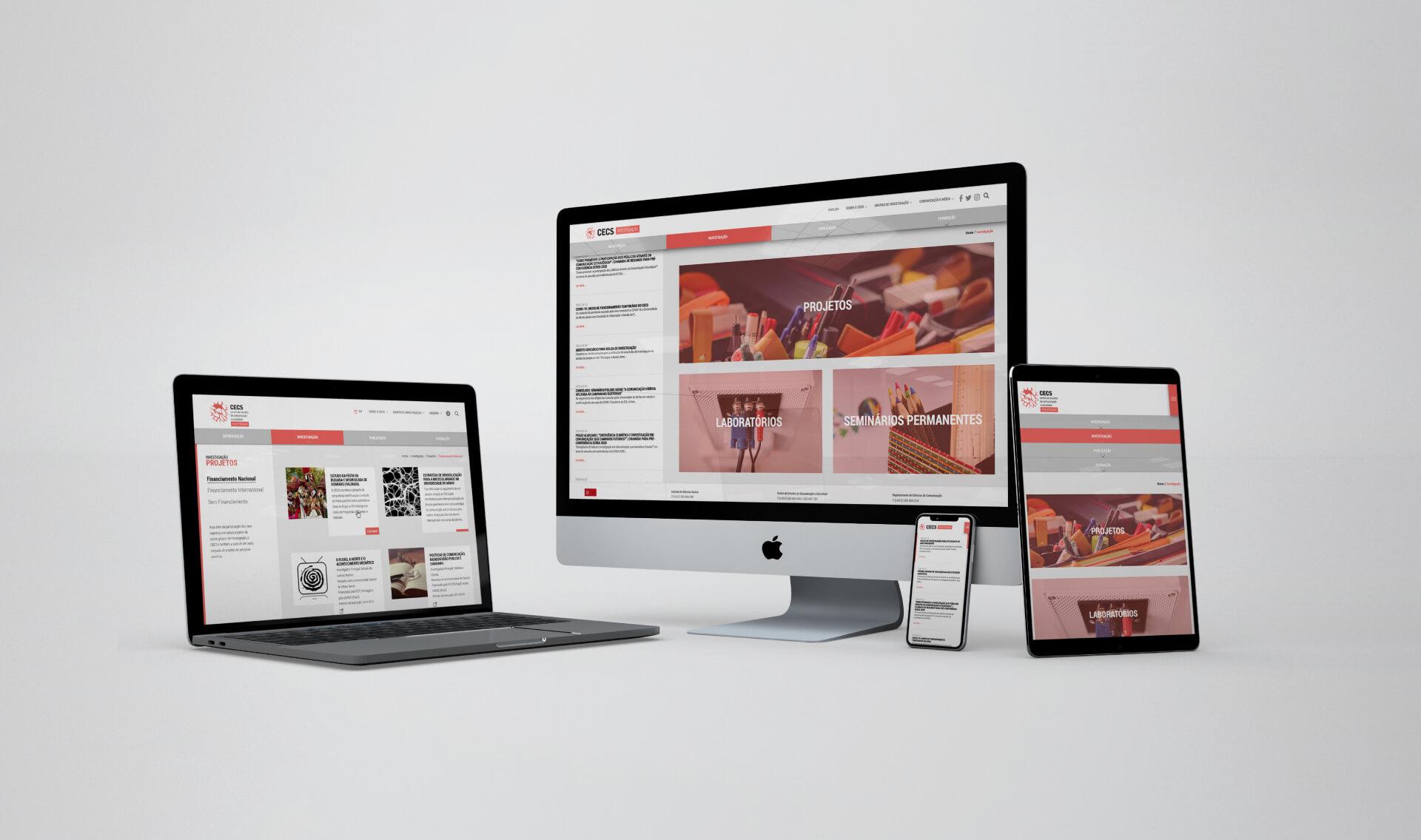 Mockup website responsivo do CECS