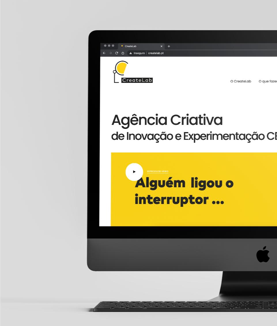 Website Create Labs em computador