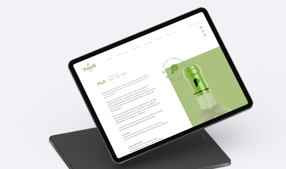 Website Pagoli em tablet