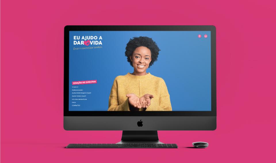 Website Doar vida em computador