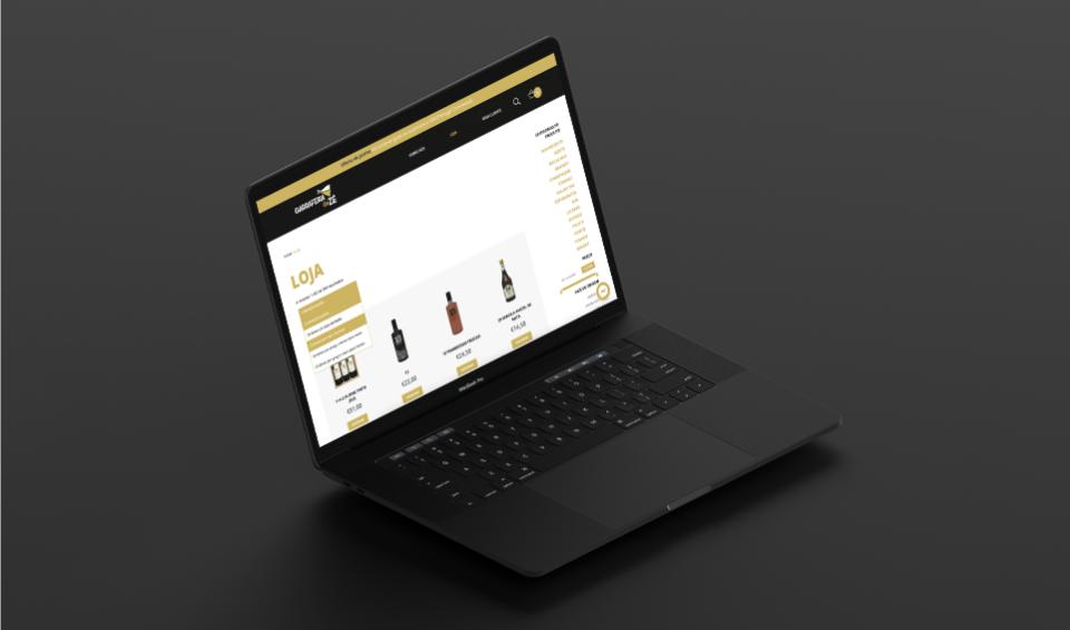 Loja online Garrafeira do Zé em computador portátil