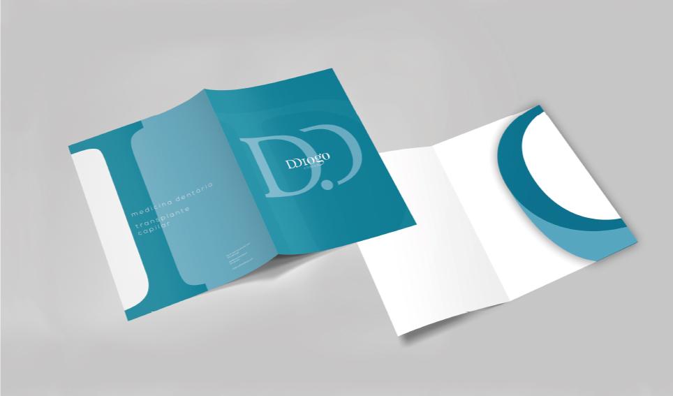 Capa de documentos em frente e verso Clínica D. Diogo