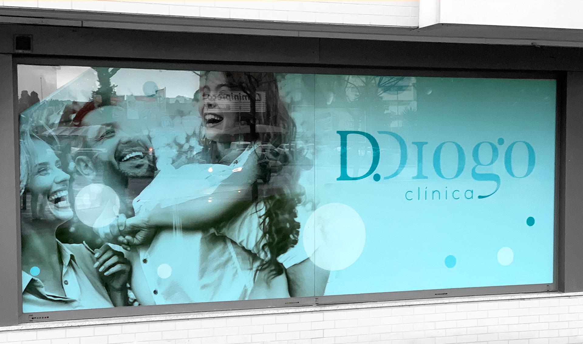Decoração de vitrine Clínica D. Diogo