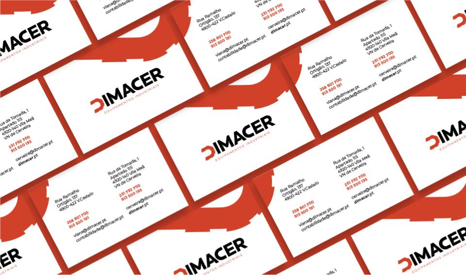 Cartões de visita Dimacer