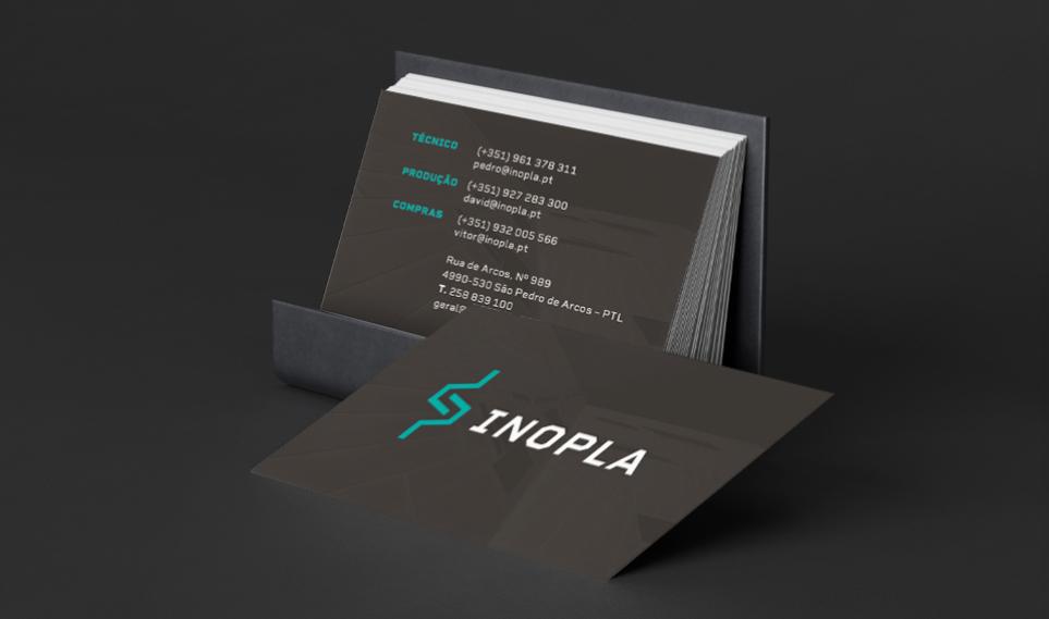 Cartões de visita Inopla