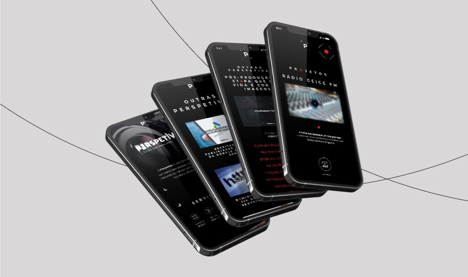 Páginas de website Perspetiva em telemóvel