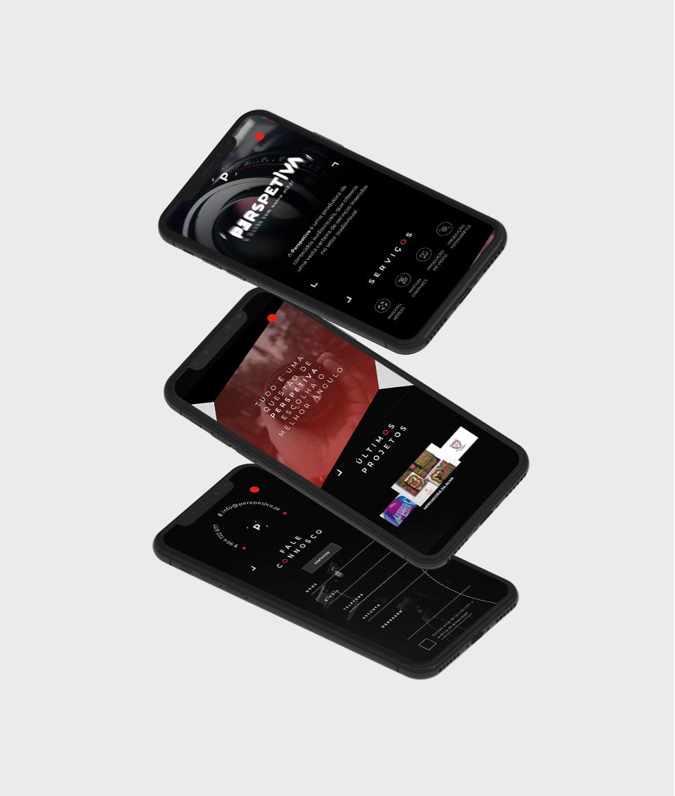 Website da Perspetiva em telemóvel
