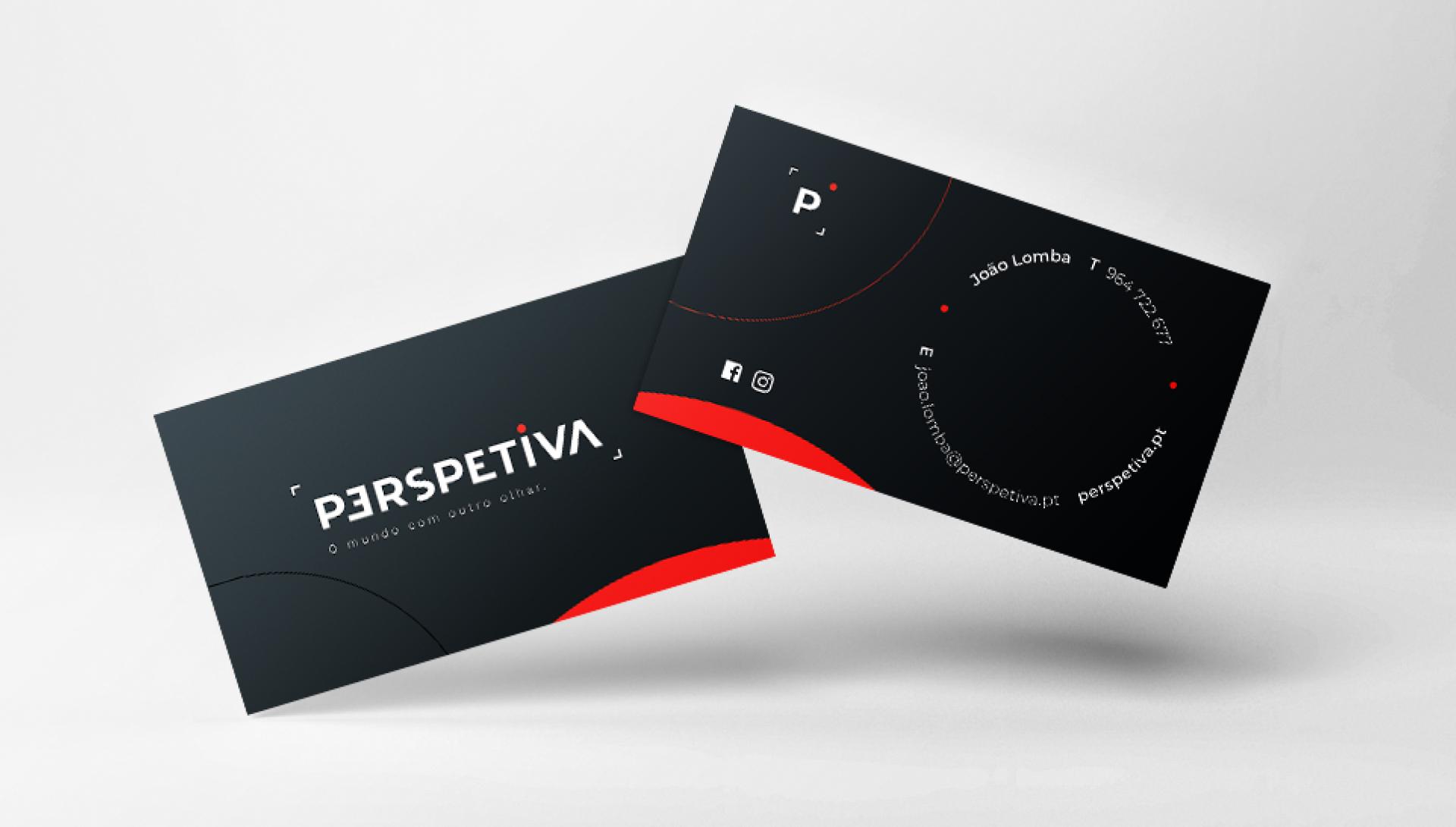 Contactos Perspetiva em cartão de visita