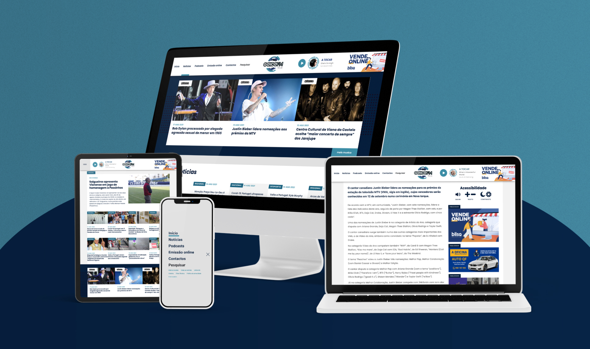 Website Radio Geice FM responsivo