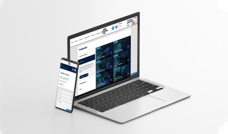 Website Radio Geice FM em desktop e mobile