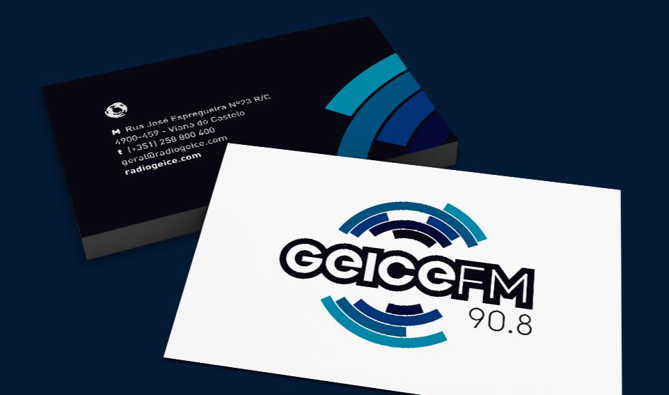Cartões de visita Radio Geice FM