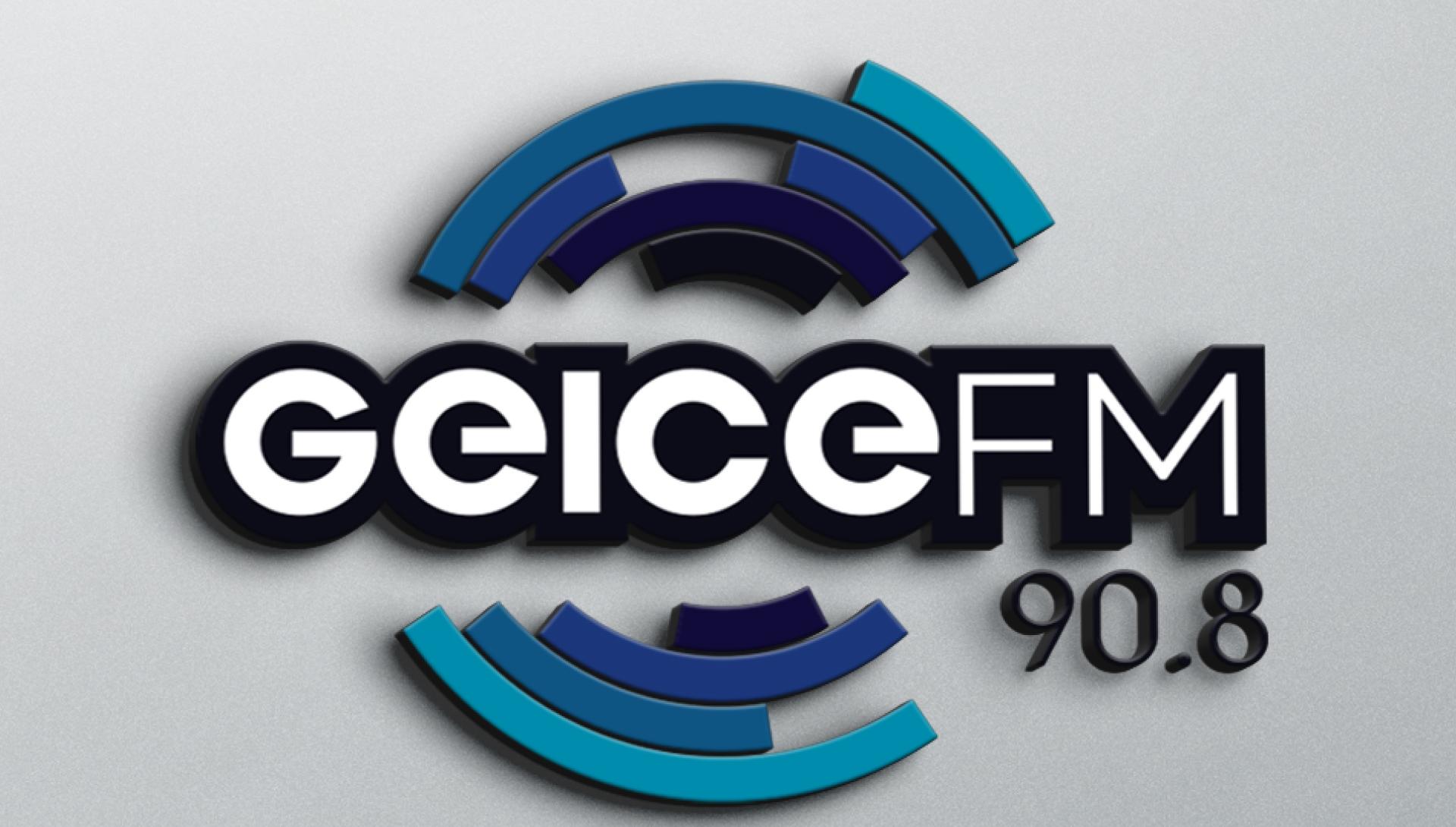 Detalhe de branding Radio Geice FM