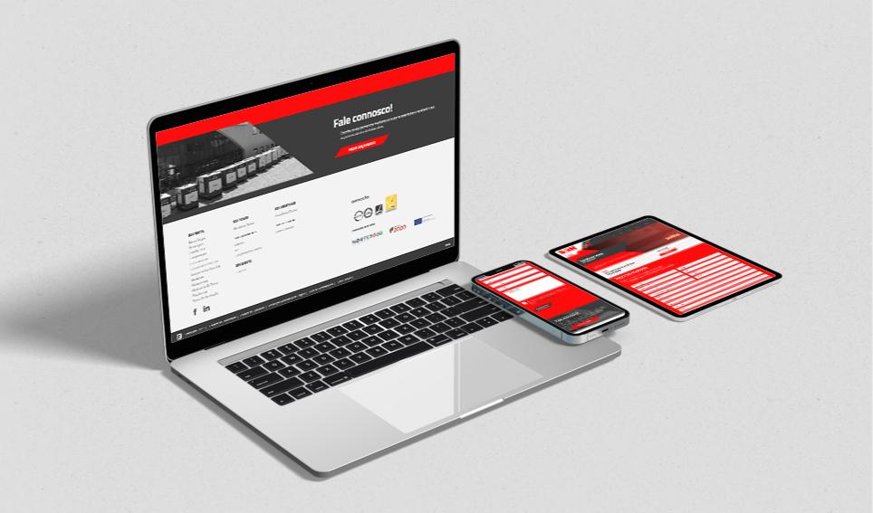 Website Sandokan responsivo em vários dispositivos