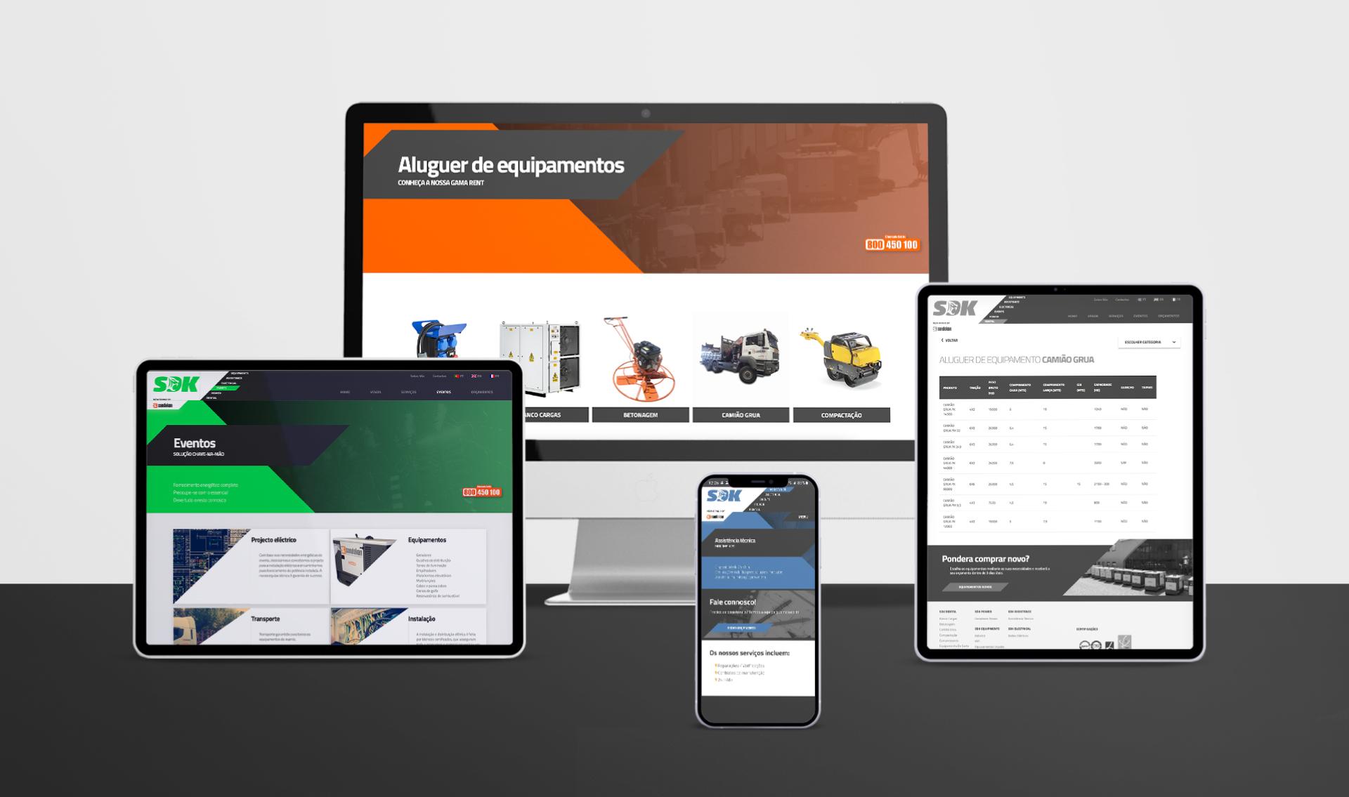 Website Sandokan responsivo