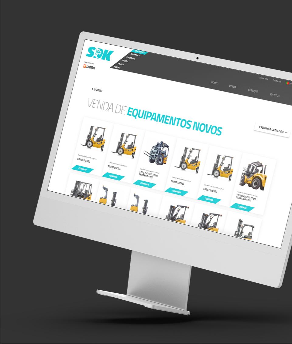 Website Sandokan em computador